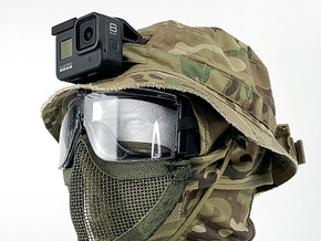 Boonie Hat Mount (GoPro Hero 8 Compatible) in Black PA12