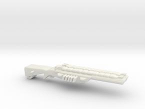 Shotgun Dual in White Natural Versatile Plastic