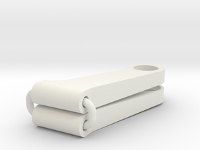 Tamiya 959 Lower front arm set in White Natural Versatile Plastic