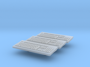 Computer Keyboard 01. 1:24 Scale in Smooth Fine Detail Plastic