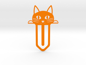 Cute Cat Bookmark in Orange Processed Versatile Plastic
