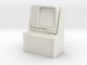Monitor Control Console 1/64 in White Natural Versatile Plastic