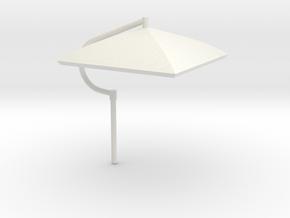 Umbrella Heavy Equipment 1-50 Scale in White Natural Versatile Plastic