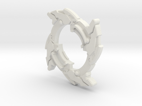 Dragoon V2 attack ring in White Natural Versatile Plastic