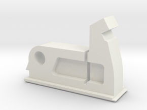 Window Security Stopper in White Natural Versatile Plastic
