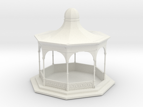 O Scale Bandstand in White Natural Versatile Plastic