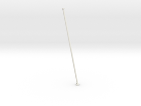 1/24 DKM Schnellboot Flag Pole in White Natural Versatile Plastic