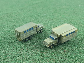 US M934 Truck with Van Body 1/285 in Smooth Fine Detail Plastic