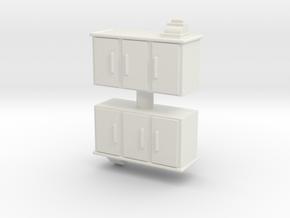 Shop Cash Counter (x2) 1/87 in White Natural Versatile Plastic