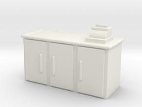 Shop Cash Counter 1/72 in White Natural Versatile Plastic