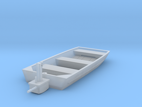 Alumaweld Jon Boat w. Engine and moving Parts in Smooth Fine Detail Plastic