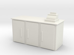 Shop Cash Counter 1/48 in White Natural Versatile Plastic