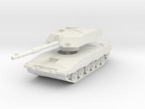 Challenger 2 MBT 1/87 in White Natural Versatile Plastic
