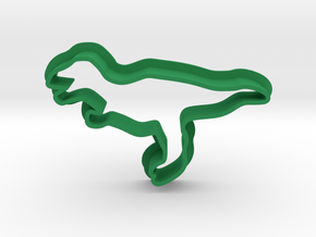 Dino T-rex Cookie Cutter in Green Processed Versatile Plastic