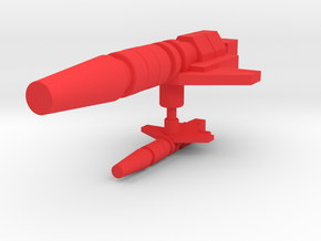 Cloudburst Thunderbolt Laser Pistol in Red Processed Versatile Plastic