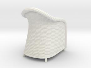 Wicker Chair in 1:12, 1:24 in White Natural Versatile Plastic: 1:24