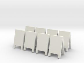 Advertising Board (x8) 1/72 in White Natural Versatile Plastic
