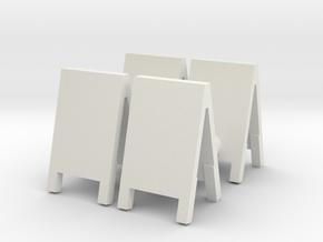 Advertising Board (x4) 1/56 in White Natural Versatile Plastic