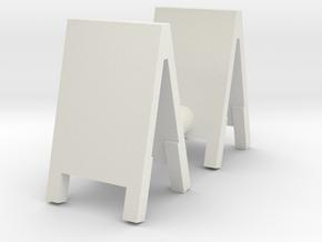 Advertising Board (x2) 1/43 in White Natural Versatile Plastic