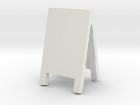 Advertising Board 1/35 in White Natural Versatile Plastic