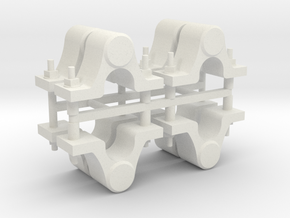 "7/8"" Scale Dinorwic Axleboxes in White Natural Versatile Plastic"