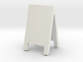 Advertising Board 1/24 in White Natural Versatile Plastic