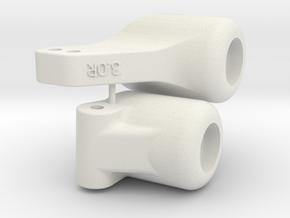 Tamiya Blitzer 3 deg Toe In Rear Upright in White Natural Versatile Plastic
