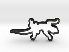 Lizard Cookie Cutter in Black Natural Versatile Plastic