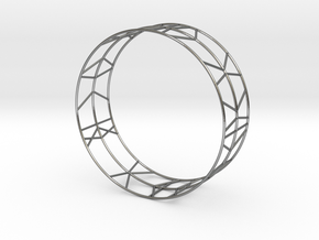 Bracelet Stripes geometric in Polished Silver