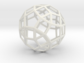 rhombicosidodecahedron wireframe in White Natural Versatile Plastic