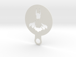 Coffee Stencil - Batman in White Natural Versatile Plastic