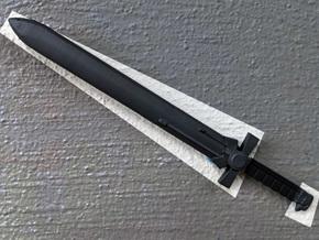PRHI Large Powered Sword- Blade and Pommel in Smoothest Fine Detail Plastic