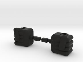 Vikung-Fu Baikanfu Fists in Black Natural Versatile Plastic
