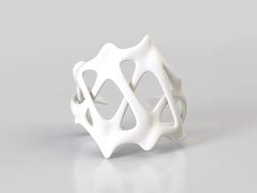 CARPAL CUFF in White Processed Versatile Plastic: Large