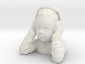 DJ Kid in White Natural Versatile Plastic