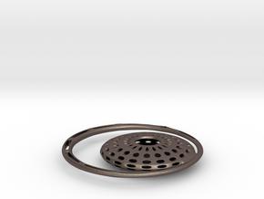 JANA - Moon in Polished Bronzed Silver Steel