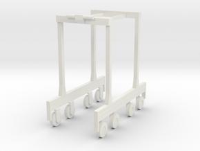 Kalmar Straddle Carrier N scale in White Natural Versatile Plastic