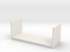 20ft Flatrack Container 1/64 in White Natural Versatile Plastic