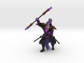 Void Spirit Spinning Weapon in Natural Full Color Sandstone