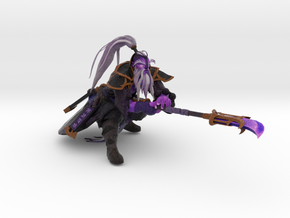 Void Spirit Thrusting Weapon in Natural Full Color Sandstone