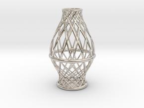 Spiral Vase Small in Platinum