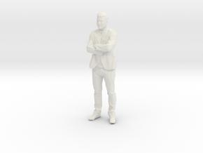 Standing Figure 01 in White Natural Versatile Plastic