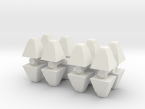 Dragon's Teeth Tank Trap (x16) 1/100 in White Natural Versatile Plastic