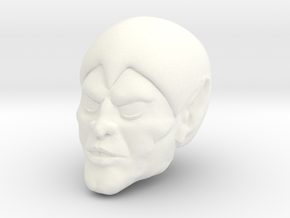 False Face Head in White Processed Versatile Plastic