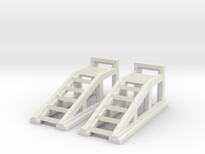 RC Garage 4WD Truck Car Ramps 1:43 Scale in White Natural Versatile Plastic