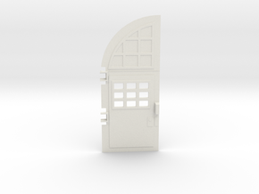 Ghostbusters fire station left door in White Natural Versatile Plastic