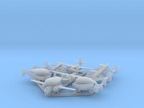 C-1, E-1 & S-2 w/Gear x8 (FUD) in Smooth Fine Detail Plastic: 1:500