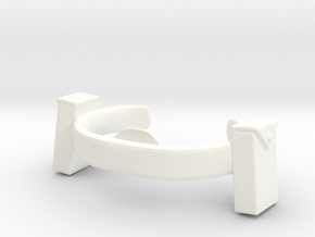 Melaktha Belt and Brooch in White Processed Versatile Plastic