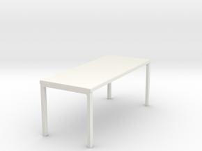 4 Leg Table in White Natural Versatile Plastic