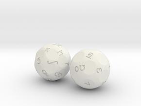 Phonems Set in White Natural Versatile Plastic